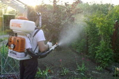 Обработка гербицидами