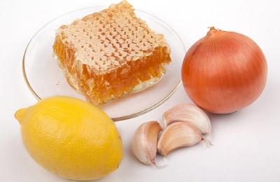 Лук чеснок и мед