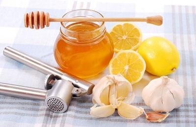 Чеснок лимон мед